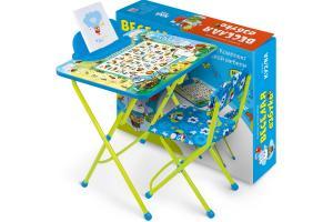 "Стол стул ""Веселая азбука"" (стол 580+стул мяг+пен) КУ2/ВА"