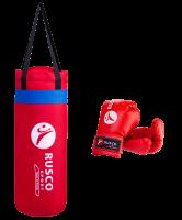 Набор бокс. начинающих RUSCO SPORT к/з красный 4oz