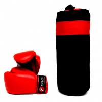 Набор бокс. начинающих RUSCO SPORT к/з черный 4oz