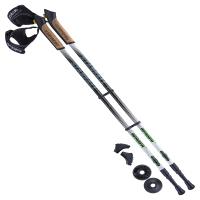 Палки для скандинавской ходьбы BERGER Starfall, 77-135 см, 2-секционные, чёрный/белый/ярко-зелёный