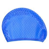 Шапочка для плавания рельефная силиконовая