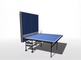 Теннисный стол влагостойкий, на роликах с усилением игрового поля WIPS Royal Outdoor
