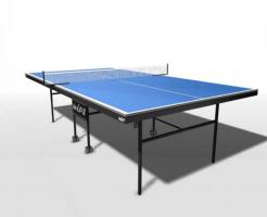 Теннисный стол для помещений складной, усиленное игровое поле, на роликах WIPS Roya