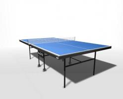 Теннисный стол для помещений складной, усиленное игровое поле, на роликах, со встроенной сеткой WIPS Royal - C
