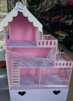 Дом для кукол 3 этажа, балкон, окна, двери, ящик для игрушек 120*75*30