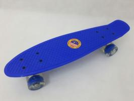Скейтборд пластиковый Adio 101L, 22' светящиеся колеса, однотонный