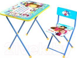КП2/2 Стол-стул Азбука2, Маша и медведь (стул мягк)