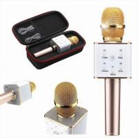 Микрофон блютуз золотой