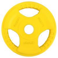 Диск обрезиненный STARFIT BB-201  1,25 кг, d=26 мм, стальная втулка, желтый 1/16