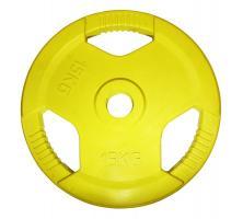 Диск обрезиненный STARFIT BB-201 15 кг, d=26 мм, стальная втулка, желтый 1/1