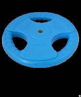 Диск обрезиненный STARFIT BB-201 20 кг, d=26 мм, стальная втулка, синий 1/1