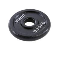 Диск чугунный STARFIT BB-204  0,75 кг, d=26 мм, черный