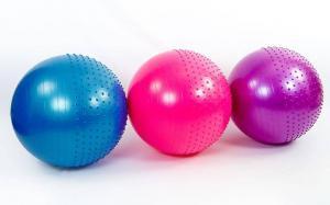 Мяч для фитбола полумассажный   75 см,  антивзрыв
