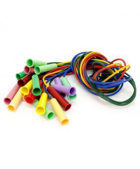 Скакалка ПВХ с пластмассовой ручкой, цвет в асс., 2,5м