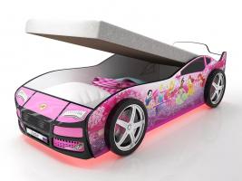 Кровать машина Турбо Фея с подъемным механизмом