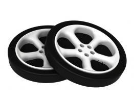 Объемные пластиковые колеса для кроватки машинки